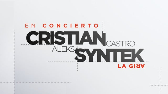 Cristian Castro at Comerica Theatre