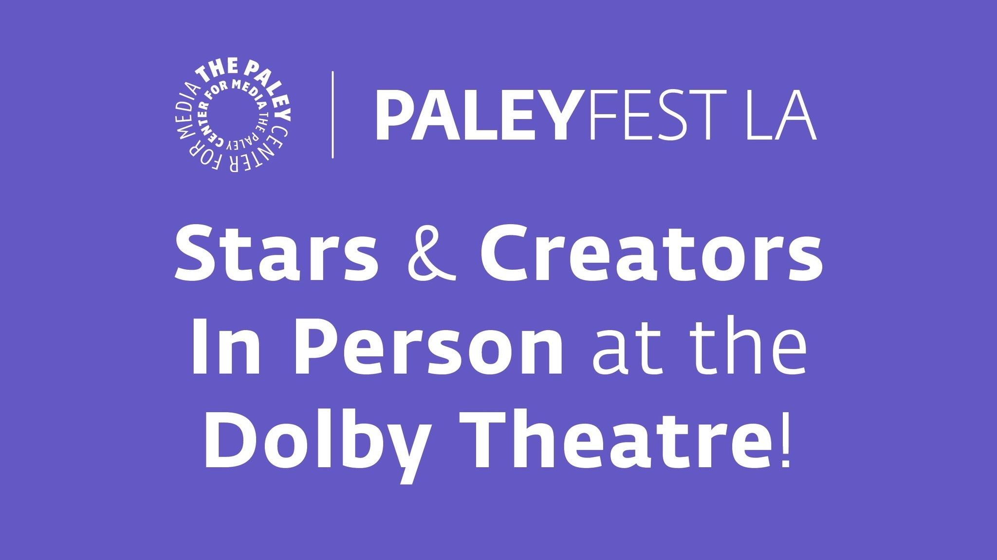STUDIO PASS A at Dolby Theatre