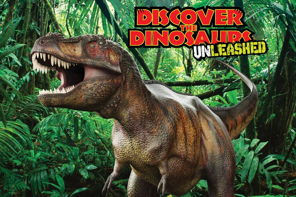 Tickets to discover the dinosaurs unleashed freeman for San antonio christmas craft show freeman coliseum
