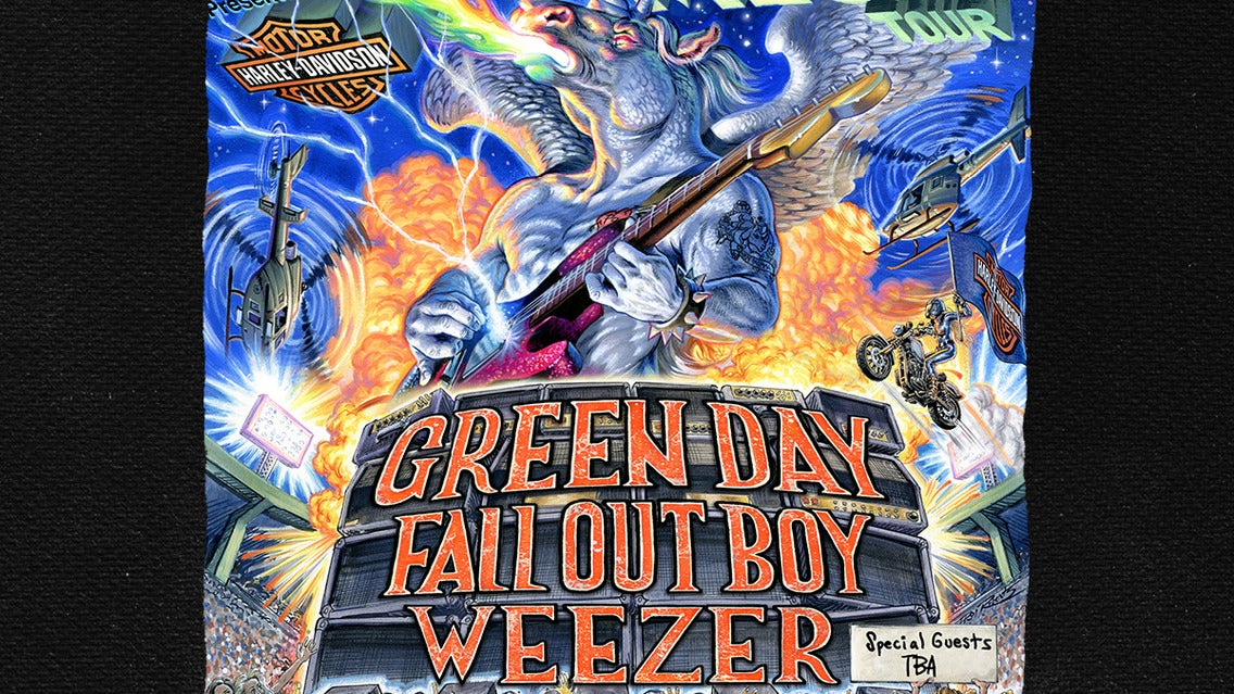 Hella Mega Tour: Green Day, Fall Out Boy & Weezer tickets (Copyright © Ticketmaster)