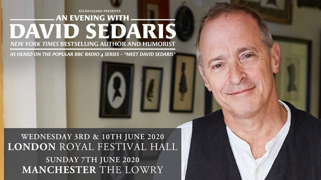 An Evening with David Sedaris The Lowry Seating Plan