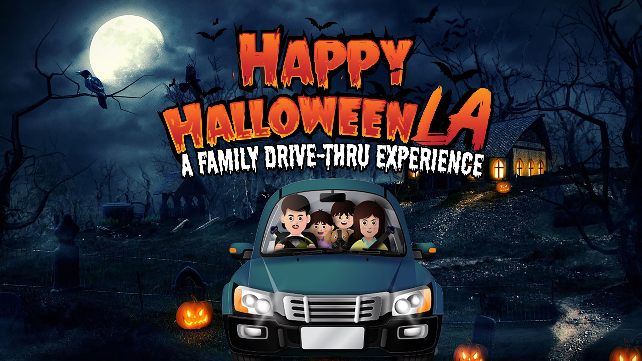 Main image for event titled Happy Halloween LA- A Drive-Thru Spooky Experience - 10/22/20