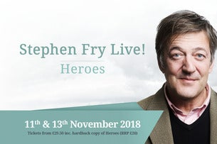Stephen Fry Live! Heroes (Book Included) Seating Plan Eventim Apollo