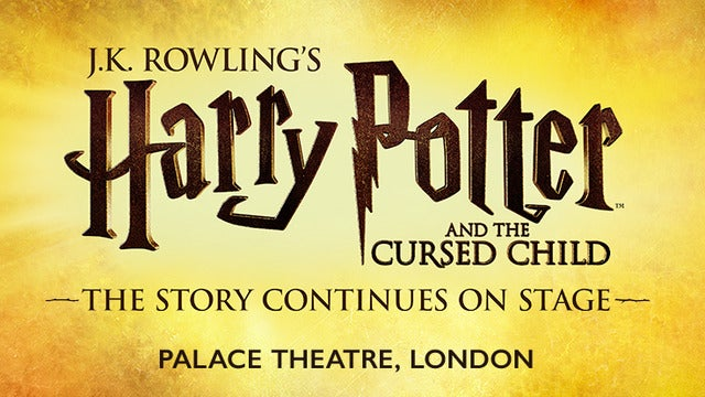 Harry Potter and the Cursed Child - Parts 1 & 2 Weds 14:00 & 19:30 Event Title Pic
