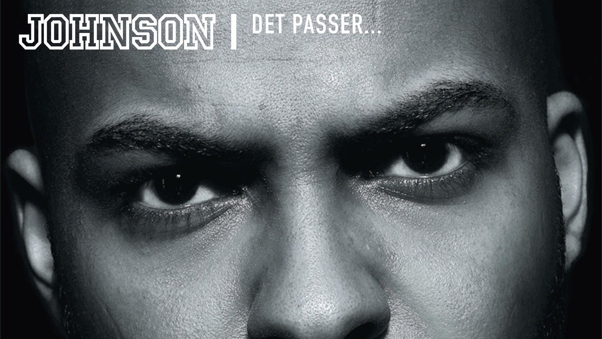 Johnson - Det Passer Tour 2020 - FÅ BILLETTER