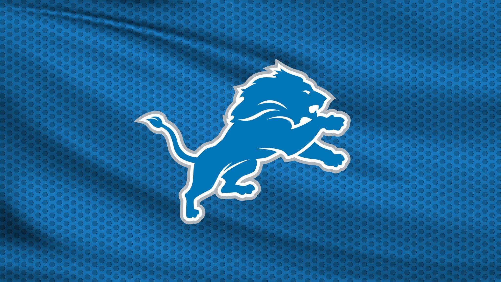 Detroit Lions vs. Philadelphia Eagles at Ford Field