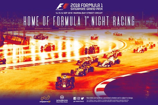Image result for f1 grand prix singapore 2018