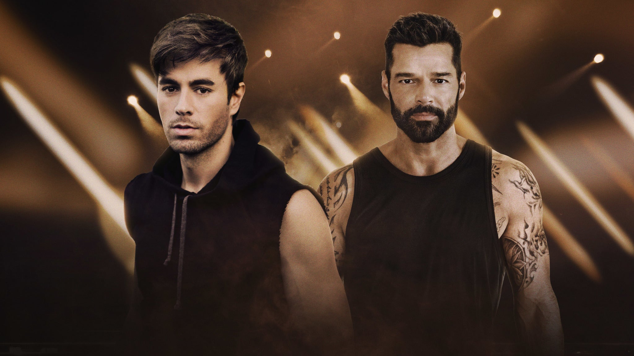 Enrique Iglesias & Ricky Martin at SAP Center at San Jose
