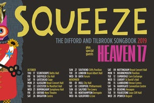 Squeeze Plus Special Guests Heaven 17 Seating Plans