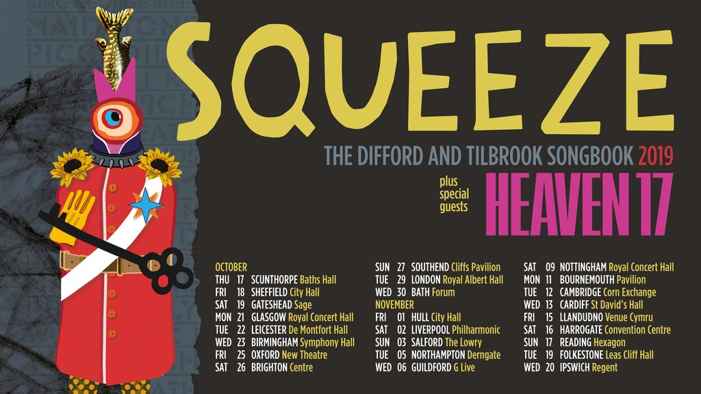 Squeeze Plus Special Guests Heaven 17 Concert Hall Glasgow Seating Plan
