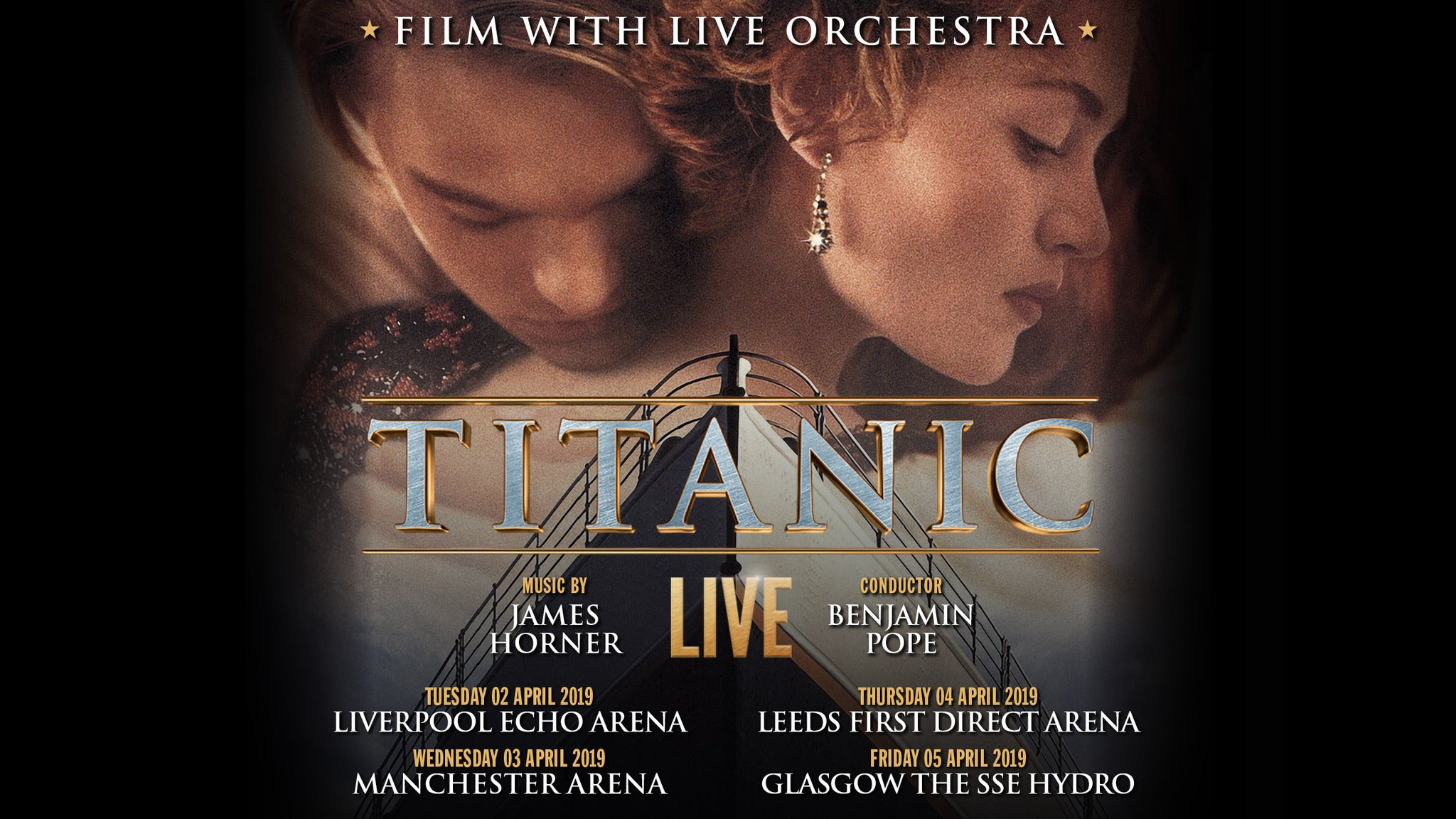 Titanic - Film with Live Orchestra and Choir Seating Plan Liverpool Echo Arena
