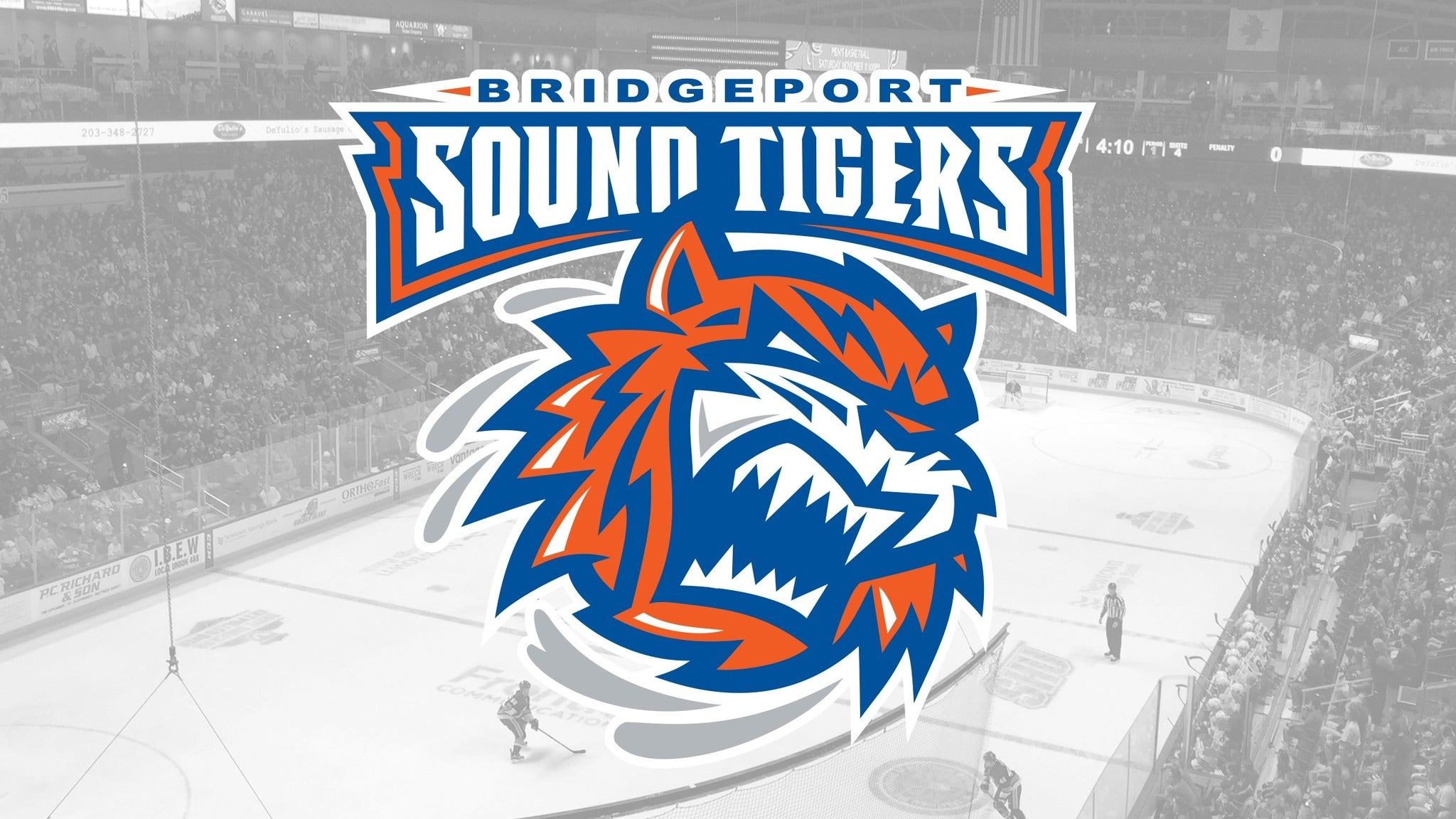 Bridgeport Sound Tigers vs. Utica Comets - Bridgeport, CT 06604