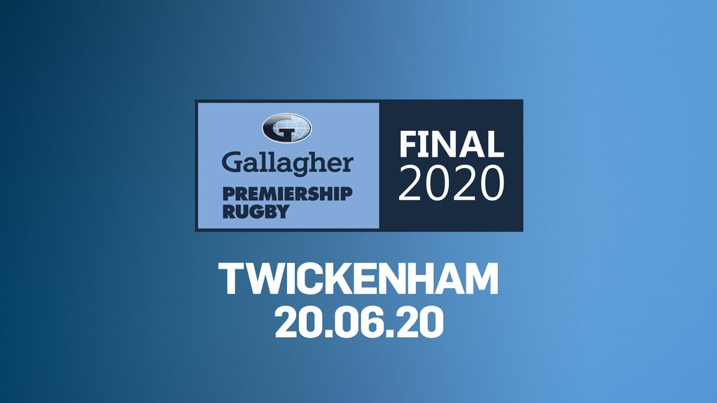 Gallagher Premiership Rugby Final 2020 Seating Plans