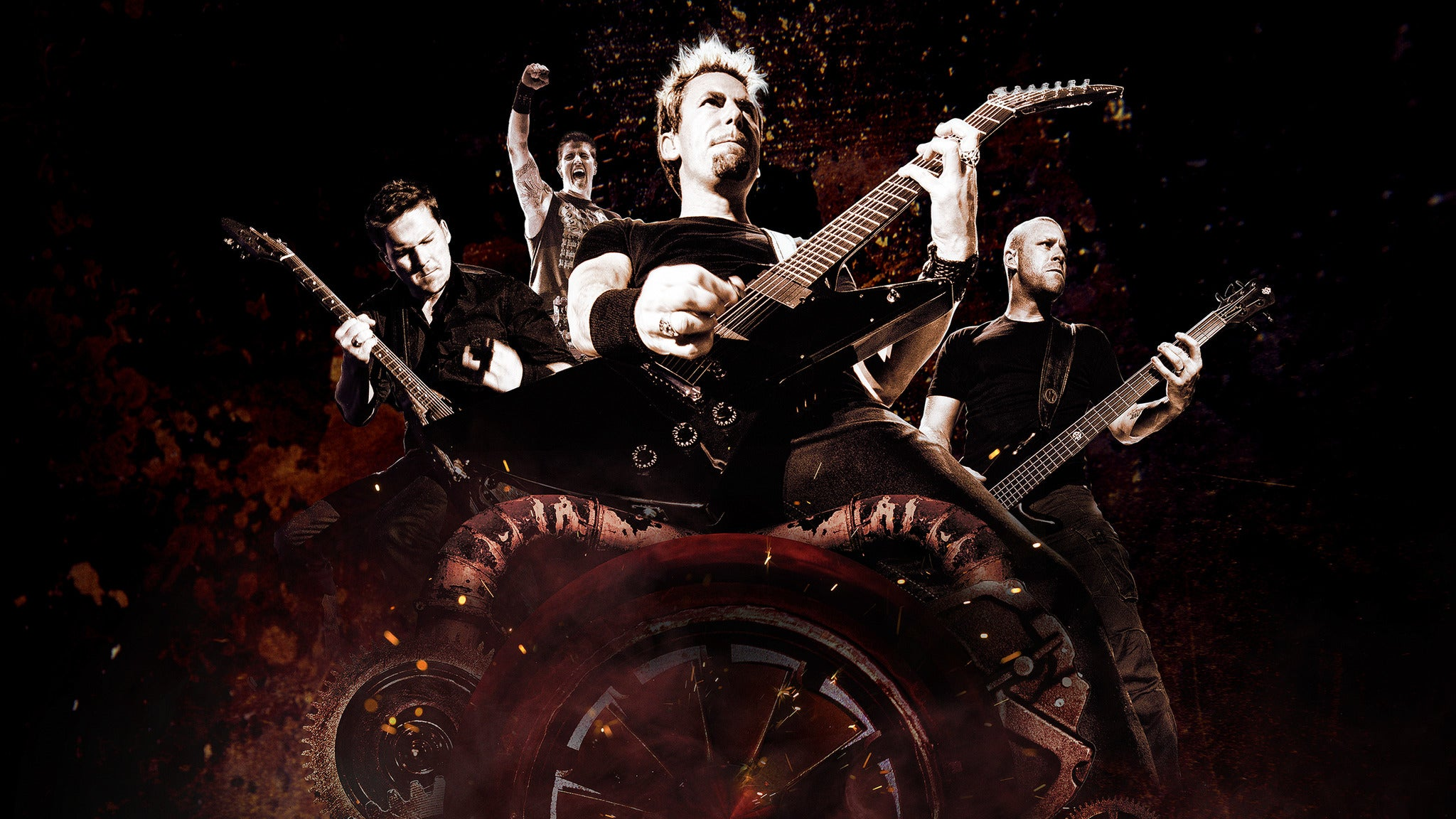 Nickelback: Feed The Machine Tour at Shoreline Amphitheatre