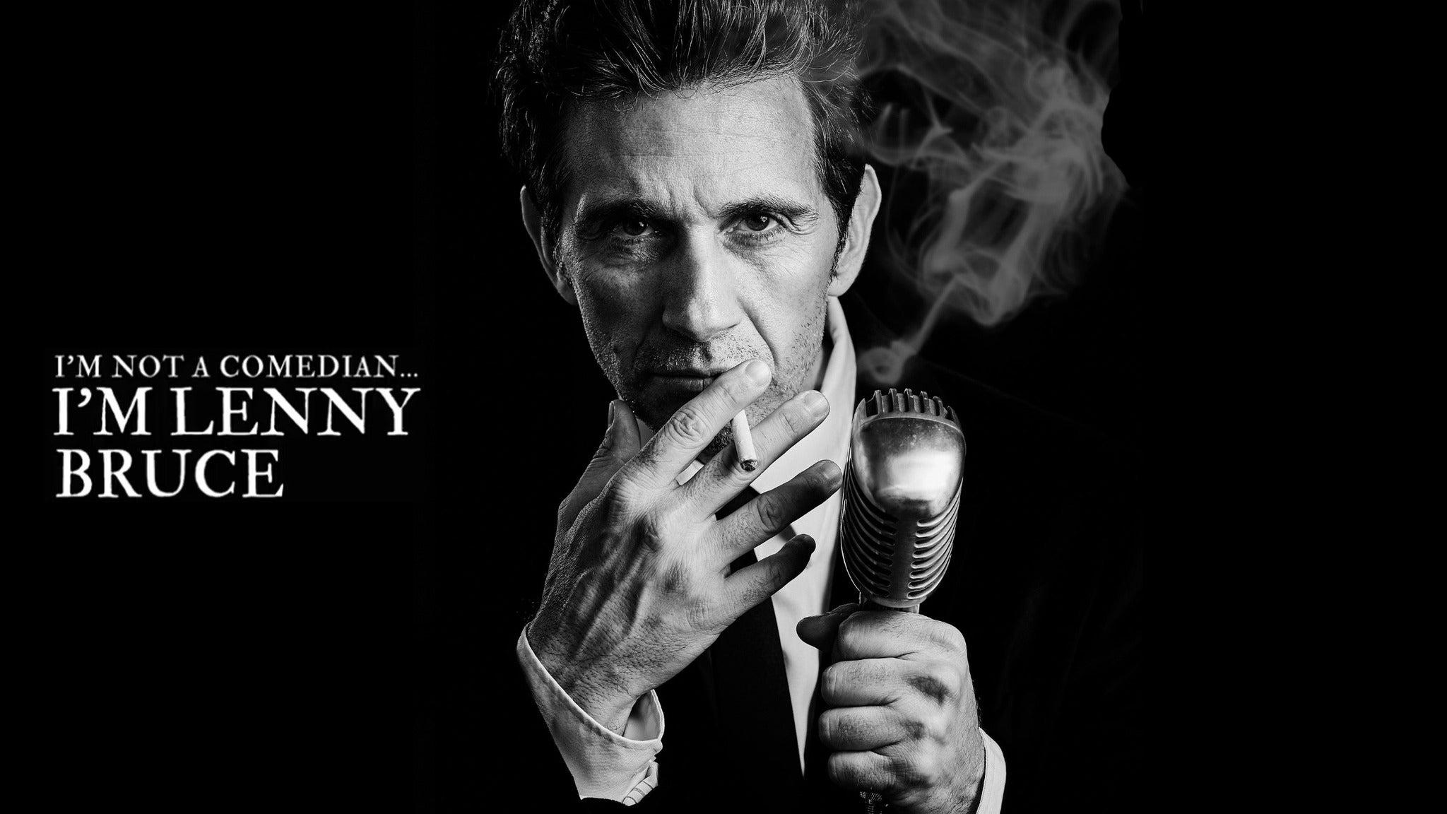 I'm Not a Comedian...I'm Lenny Bruce (Chicago)