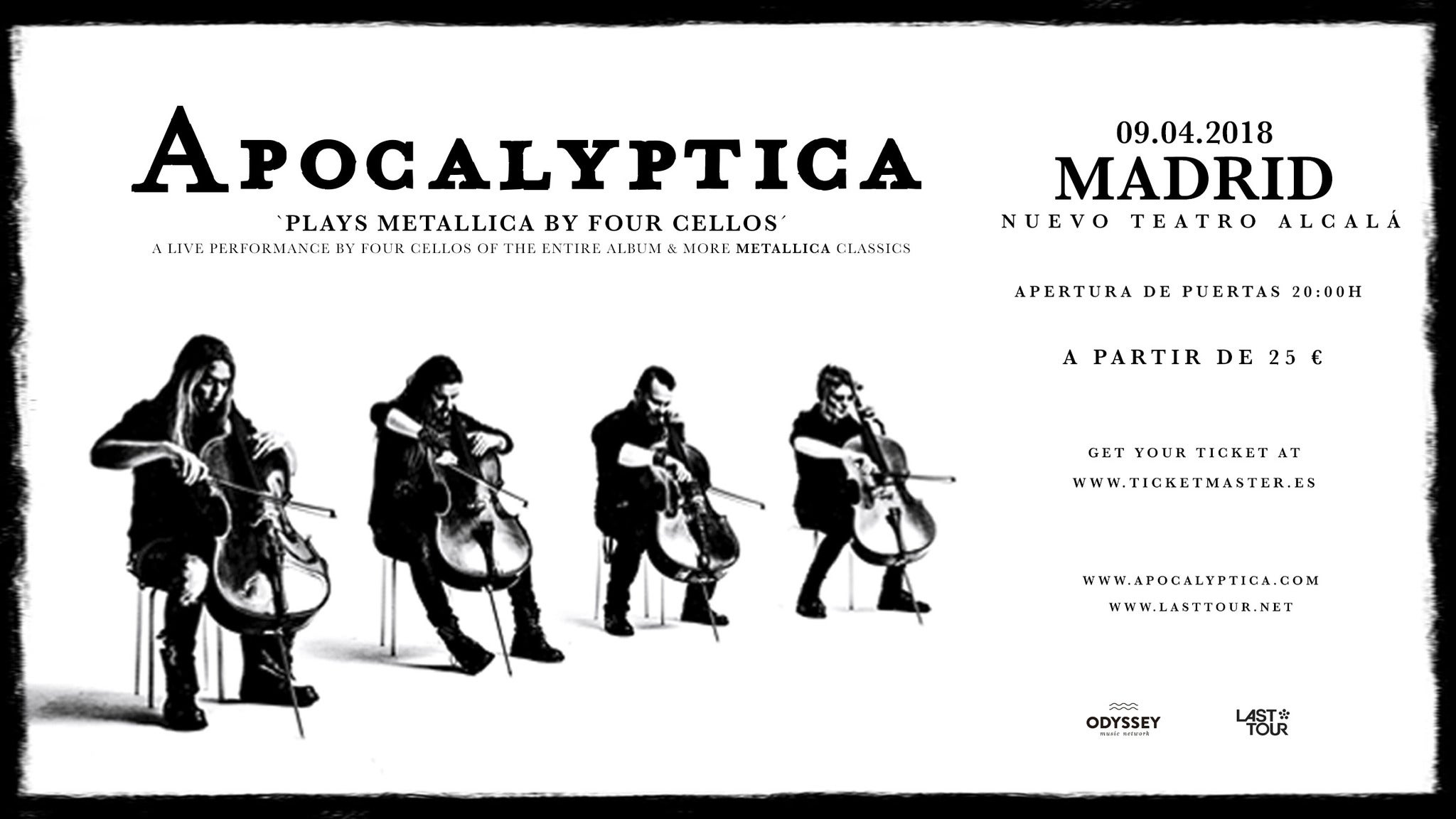 Apocalyptica at Carnegie Library Music Hall of Homestead