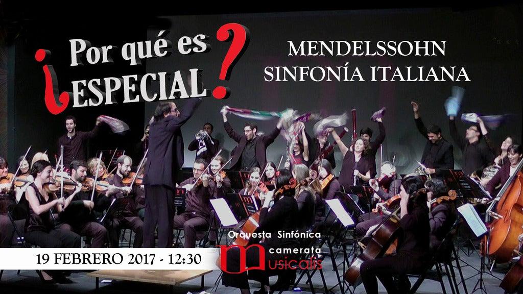 ¿Por qué es especial? Mendelssohn - La Italiana live