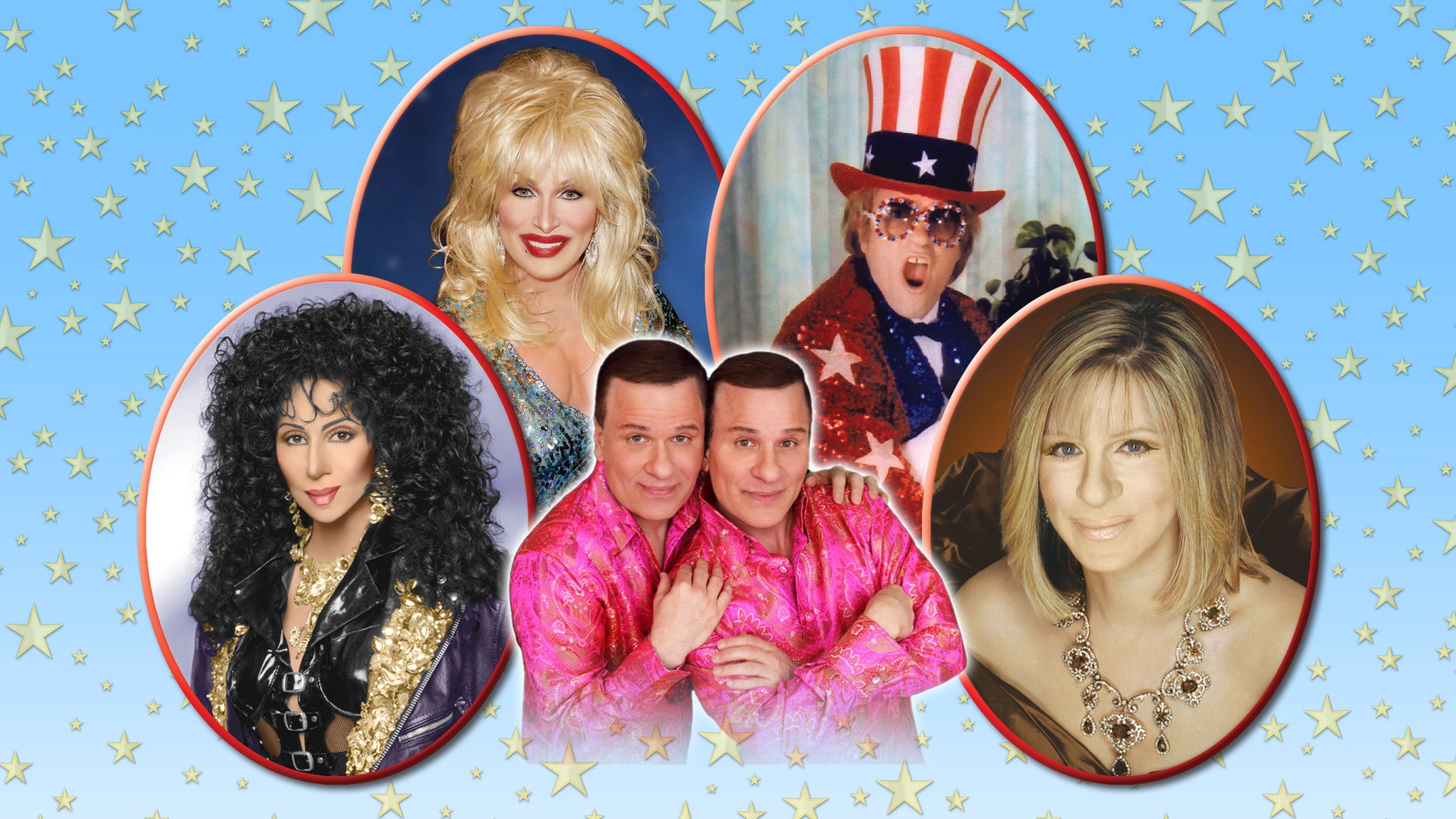 Cher, Elton, Dolly, Streisand, Vegas Edwards Twins - Port Huron, MI 48060