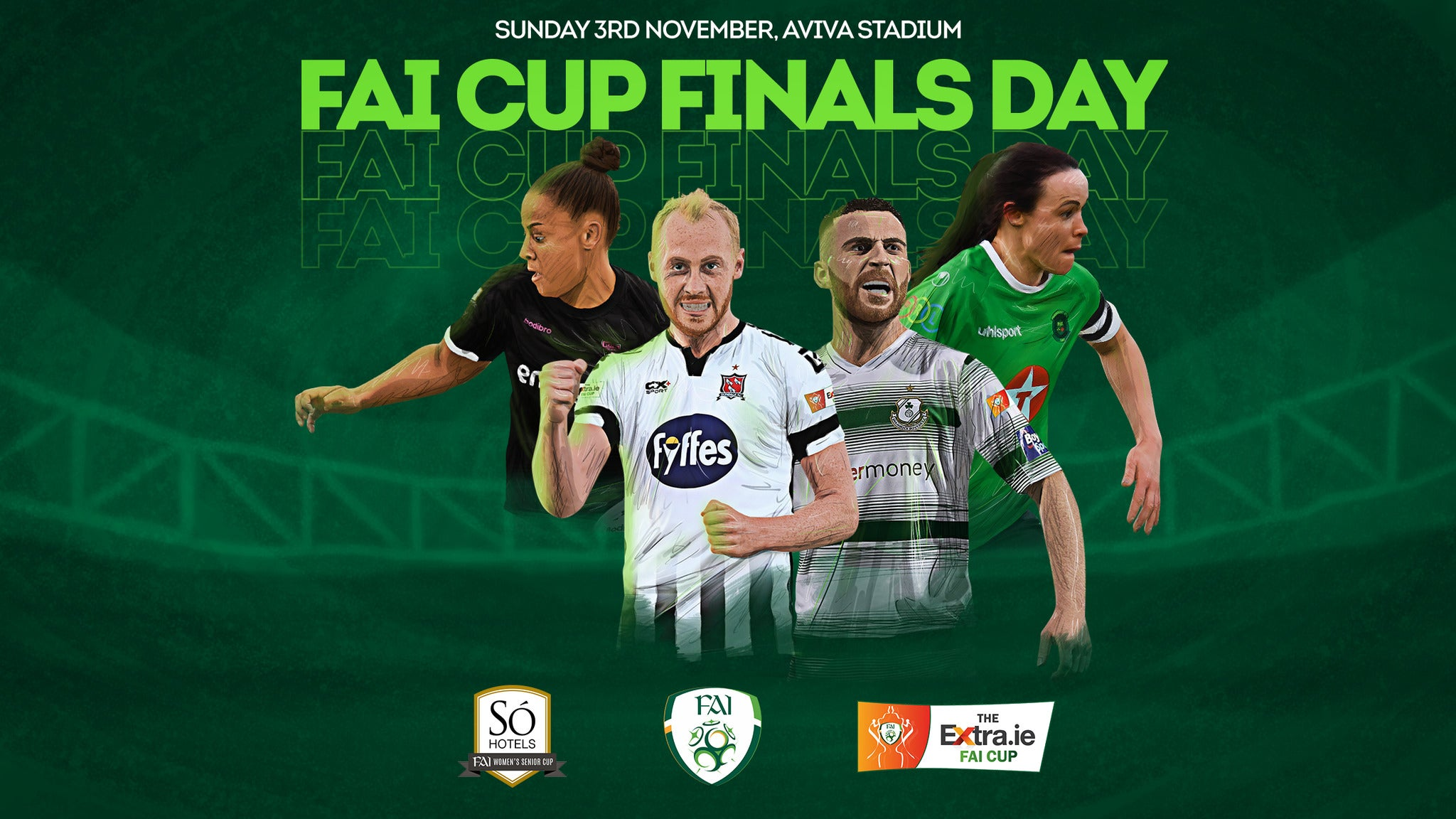 FAI Cup Finals Day - Dundalk/Shamrock Rovers & Peamount/Wexford Youths Aviva Stadium Seating Plan
