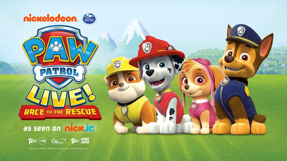 PAW Patrol Live!: Race to the Rescue 3Arena Seating Plan