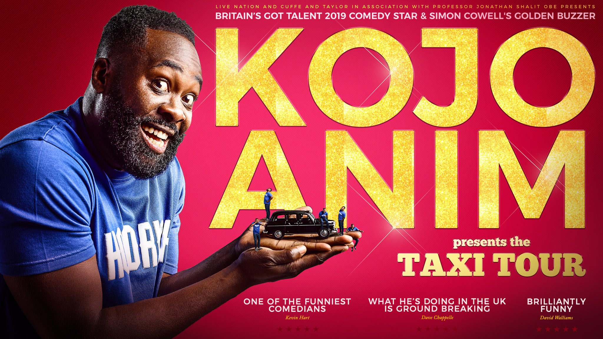 Kojo Anim Presents the Taxi Tour The Lowry Seating Plan