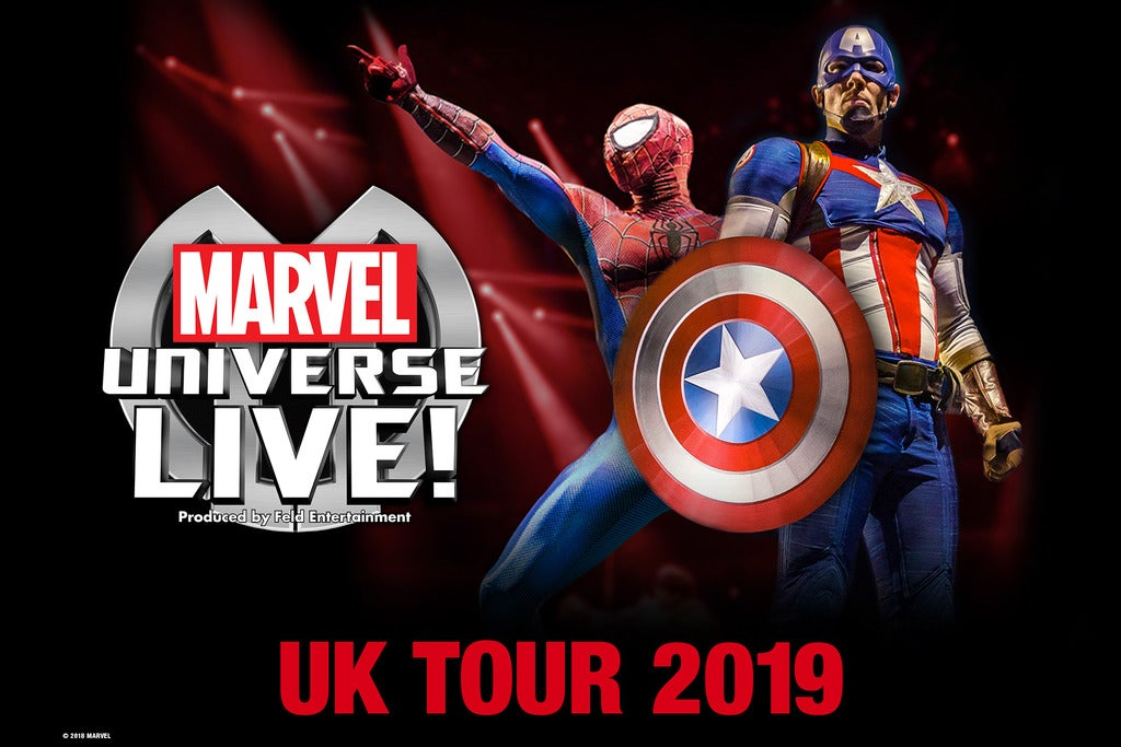 Marvel Universe LIVE! The O2 Arena Seating Plan