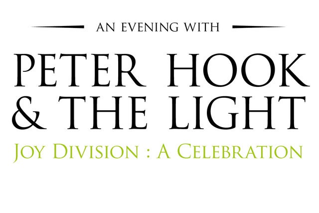 An Evening with Peter Hook & The Light - Joy Division: A Celebration Manchester Apollo Seating Plan