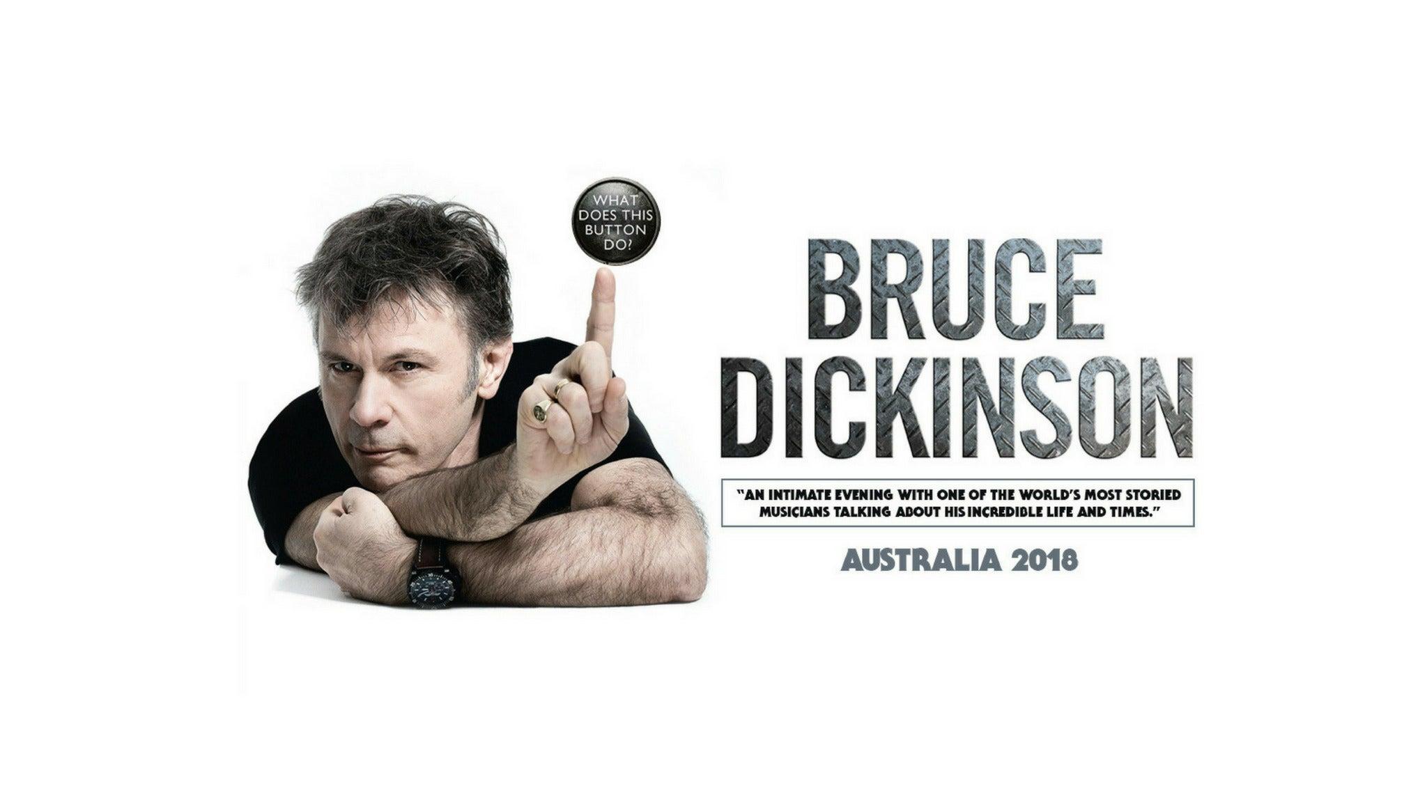 Bruce Dickinson Australian Tour