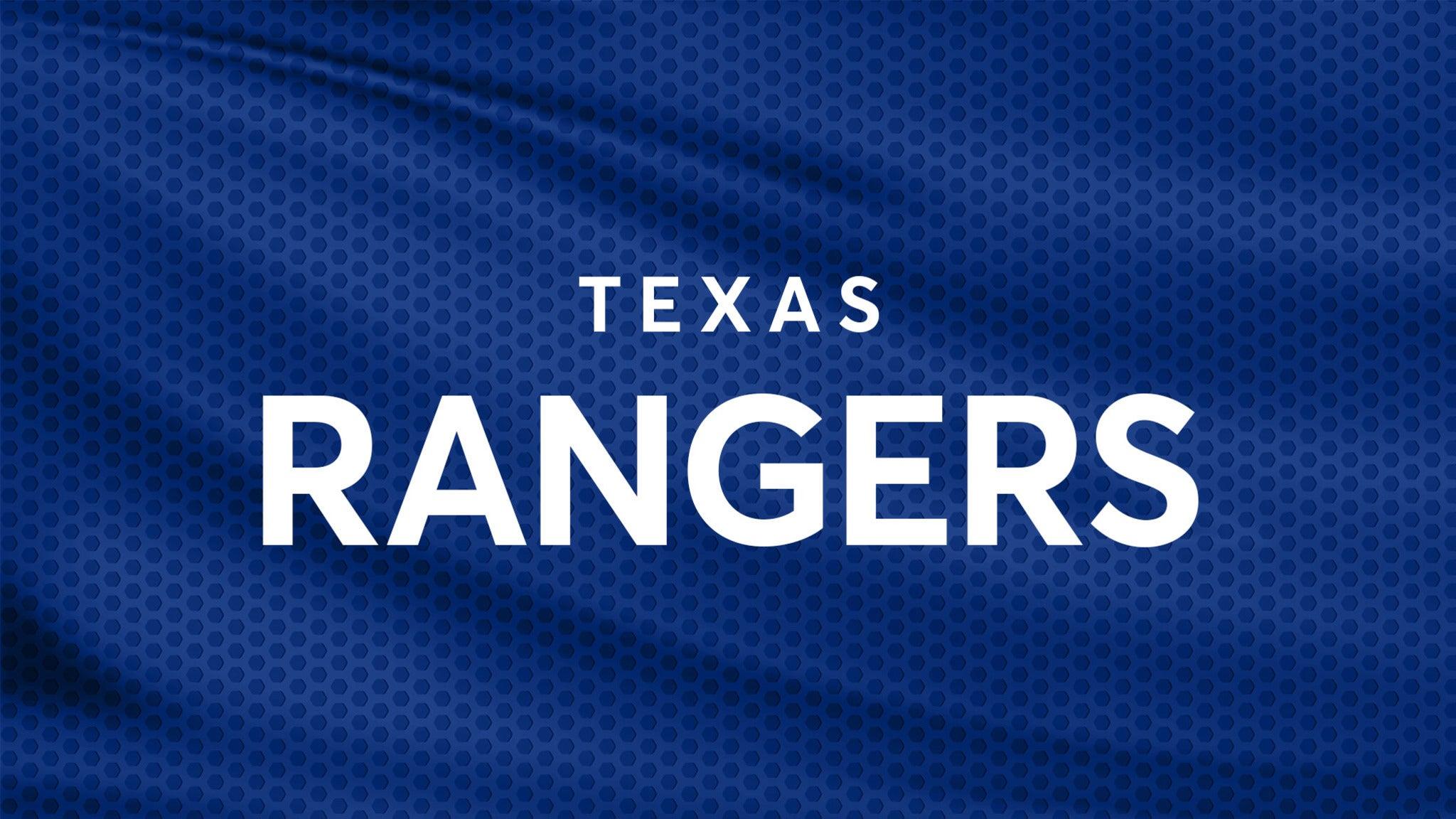 Texas Rangers vs. Los Angeles Angels