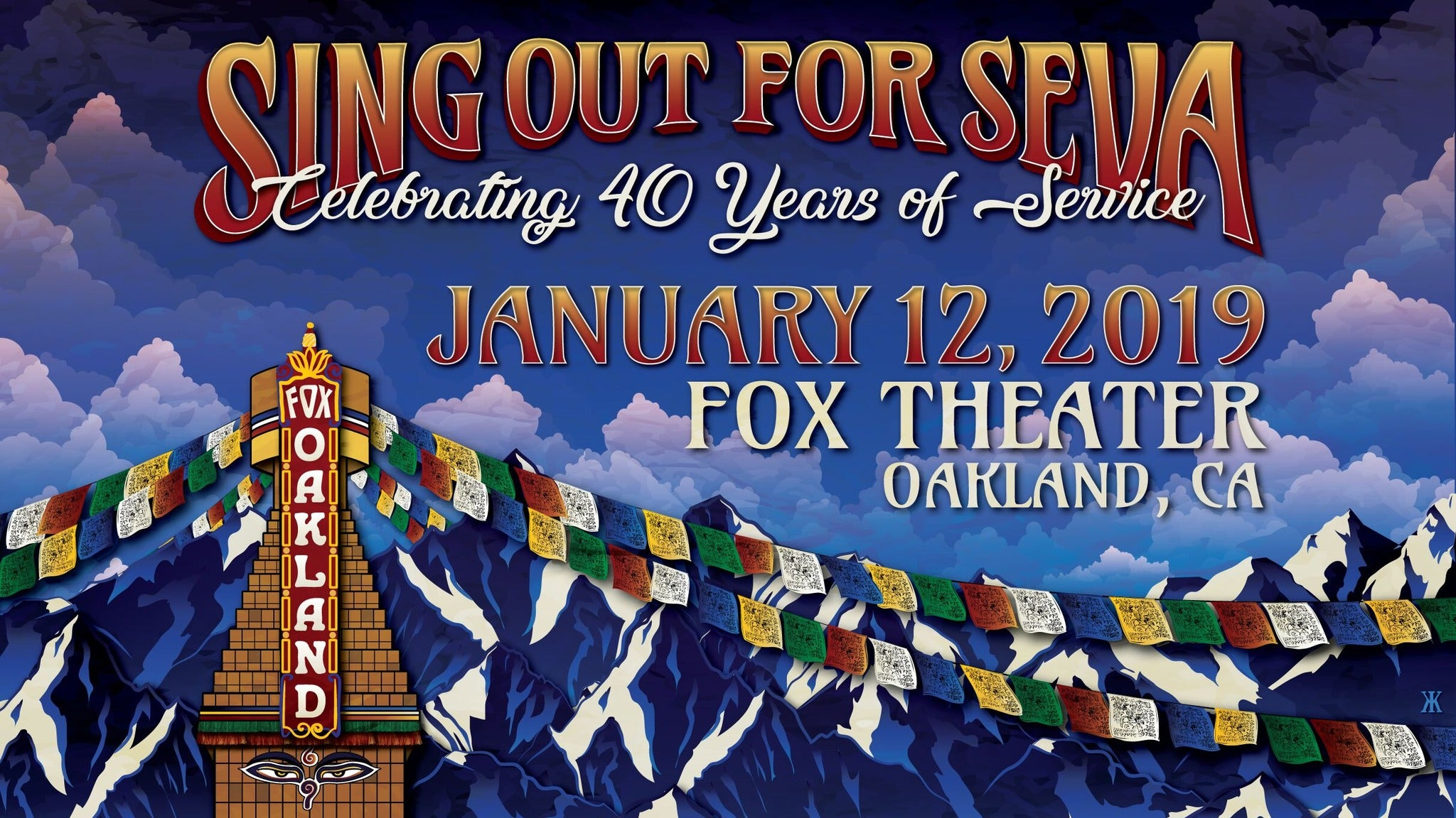 Sing Out For Seva at Fox Theater - Oakland