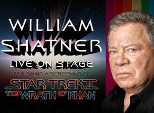 William Shatner and Star Trek II: the Wrath of Khan tickets (Copyright © Ticketmaster)