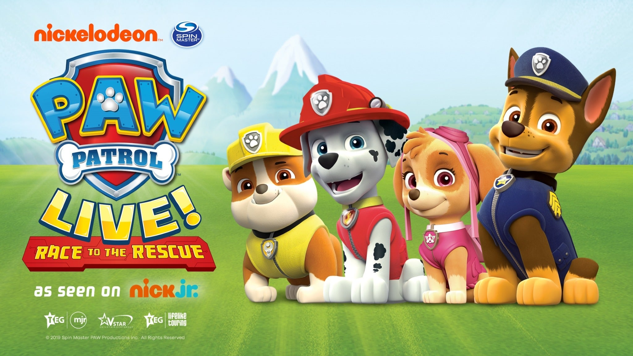 Paw Patrol - Race To the Rescue Seating Plan Motorpoint Arena Nottingham