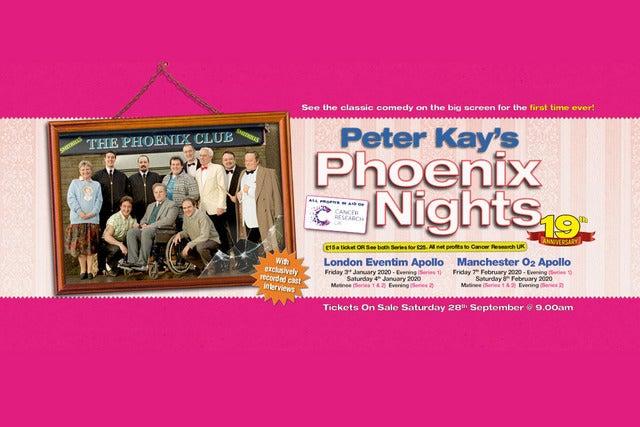 Peter Kay's Phoenix Nights 19th Anniversary Screenings - Series 1 Seating Plans