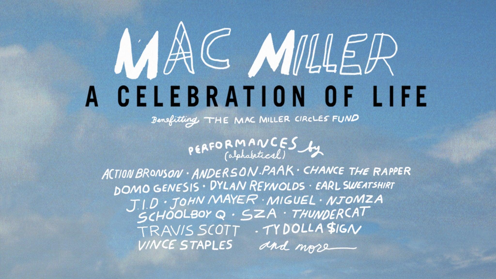 MAC MILLER: A CELEBRATION OF LIFE at Greek Theatre