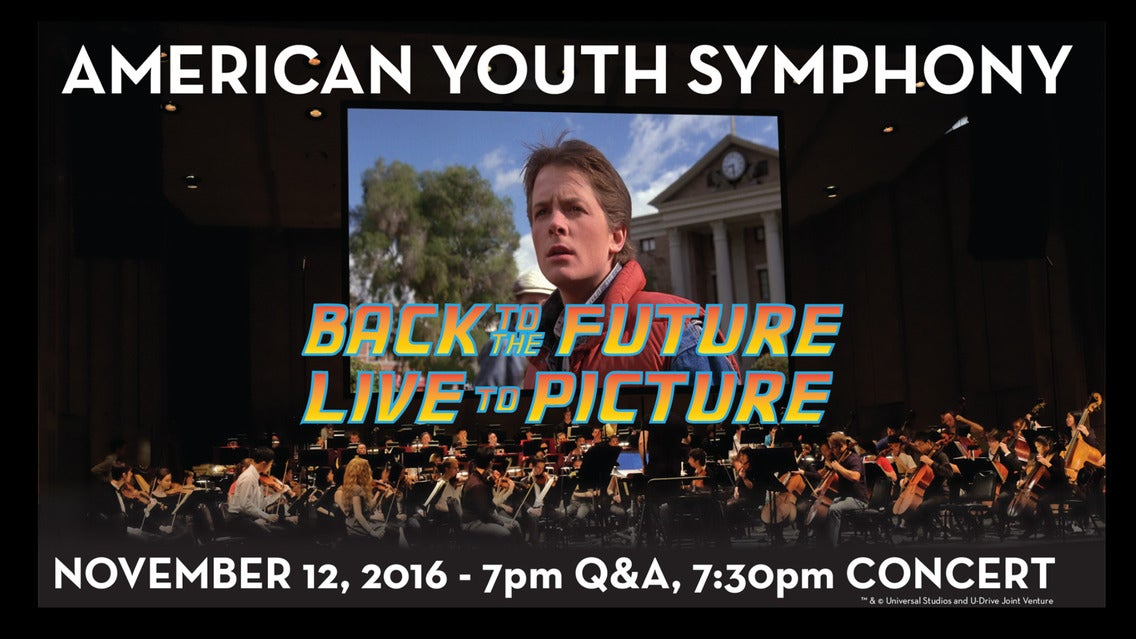 American Youth Symphony presents Back to the Future Live
