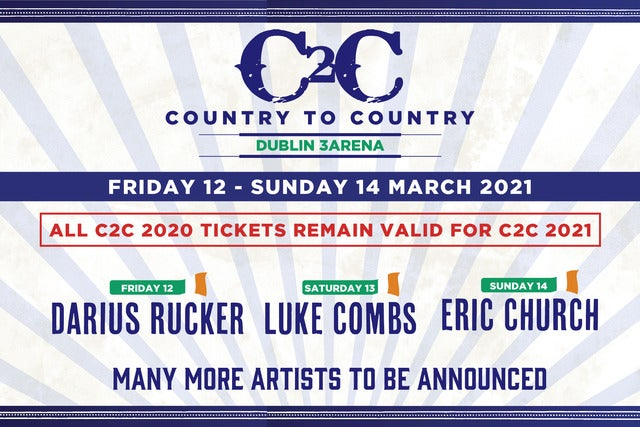 Country To Country 2021 - Weekend Seating Plans