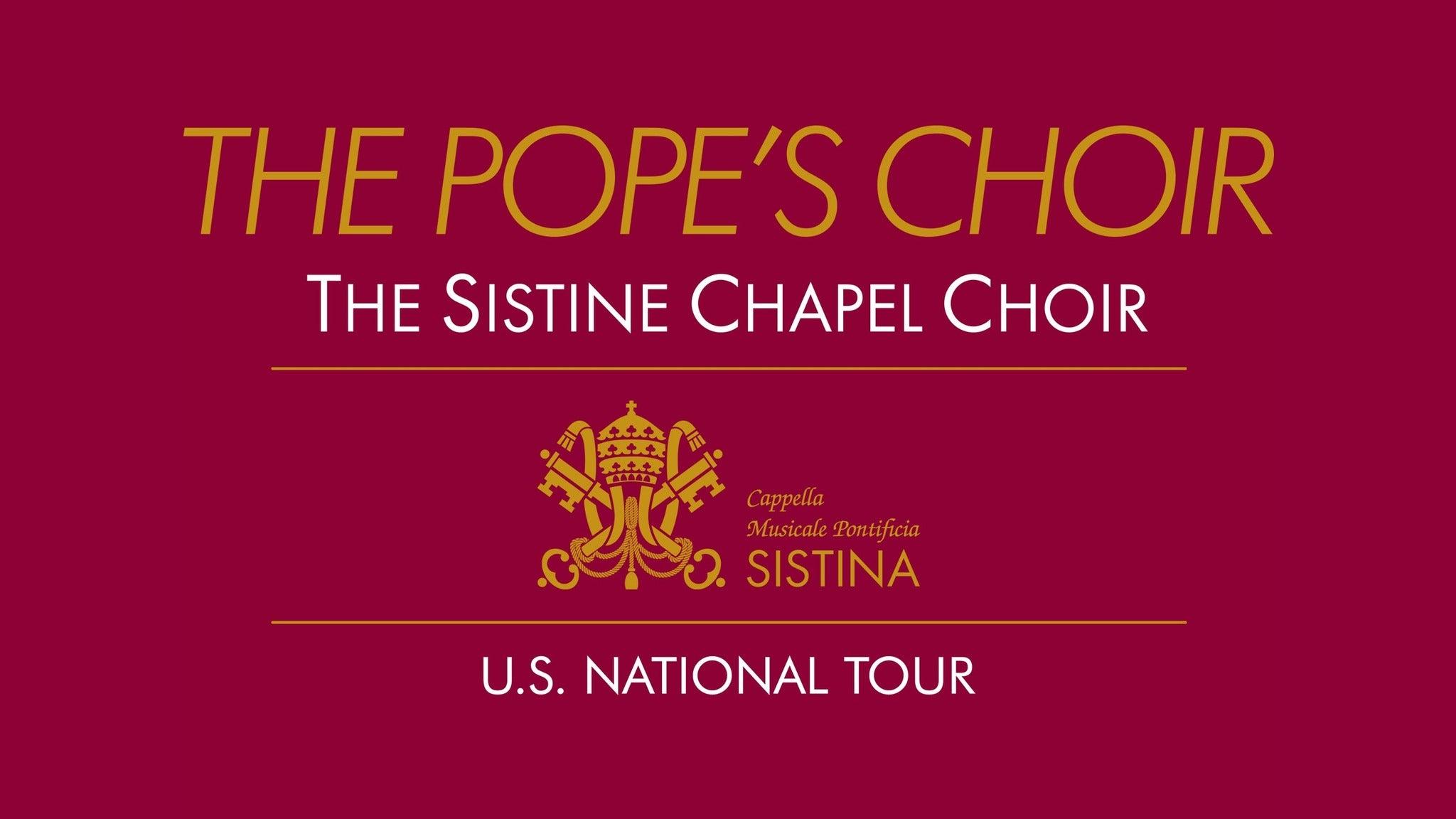 The Sistine Chapel Choir - (The Pope's Choir)