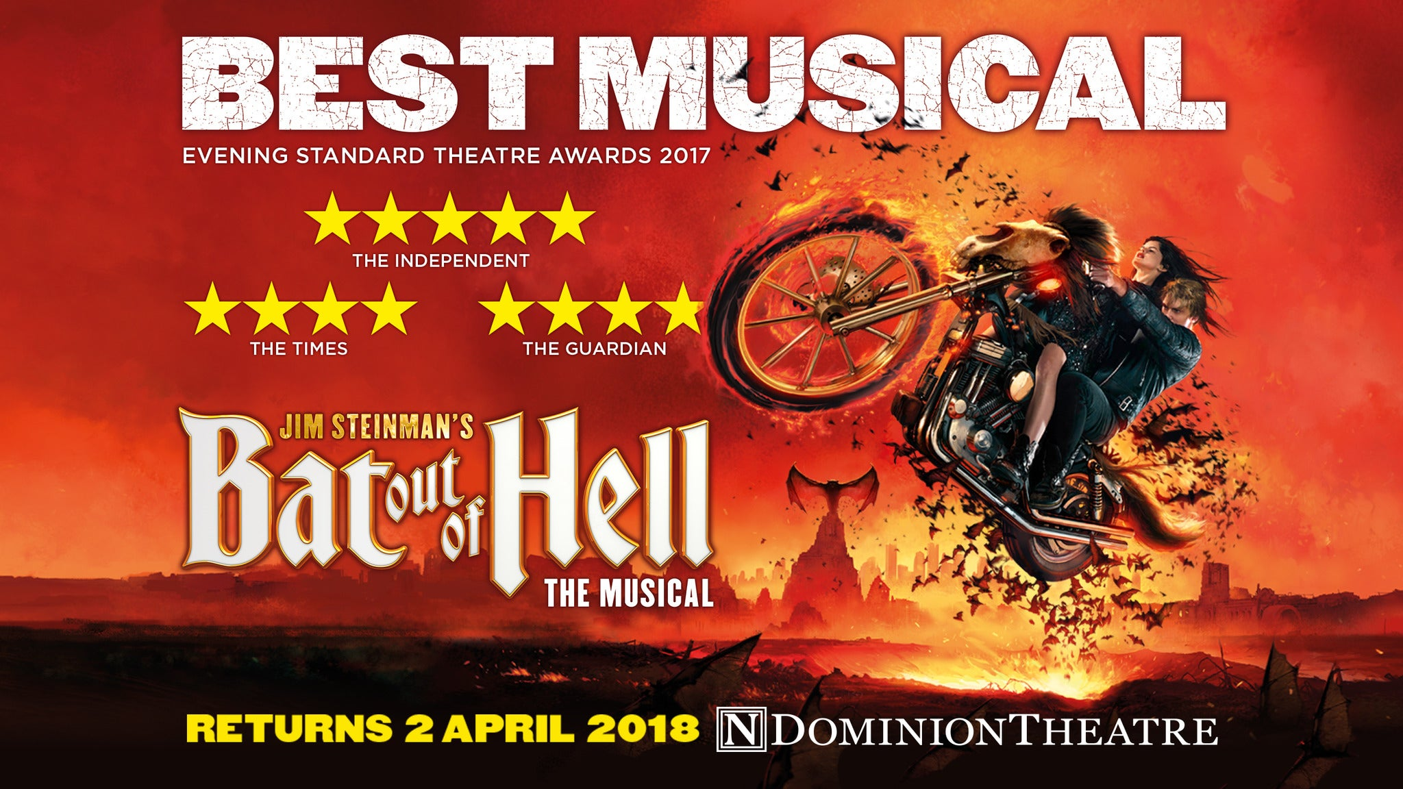SORRY, THIS EVENT IS NO LONGER ACTIVE<br>BAT OUT OF HELL THE MUSICAL at Buell Theatre - Denver, CO 80204