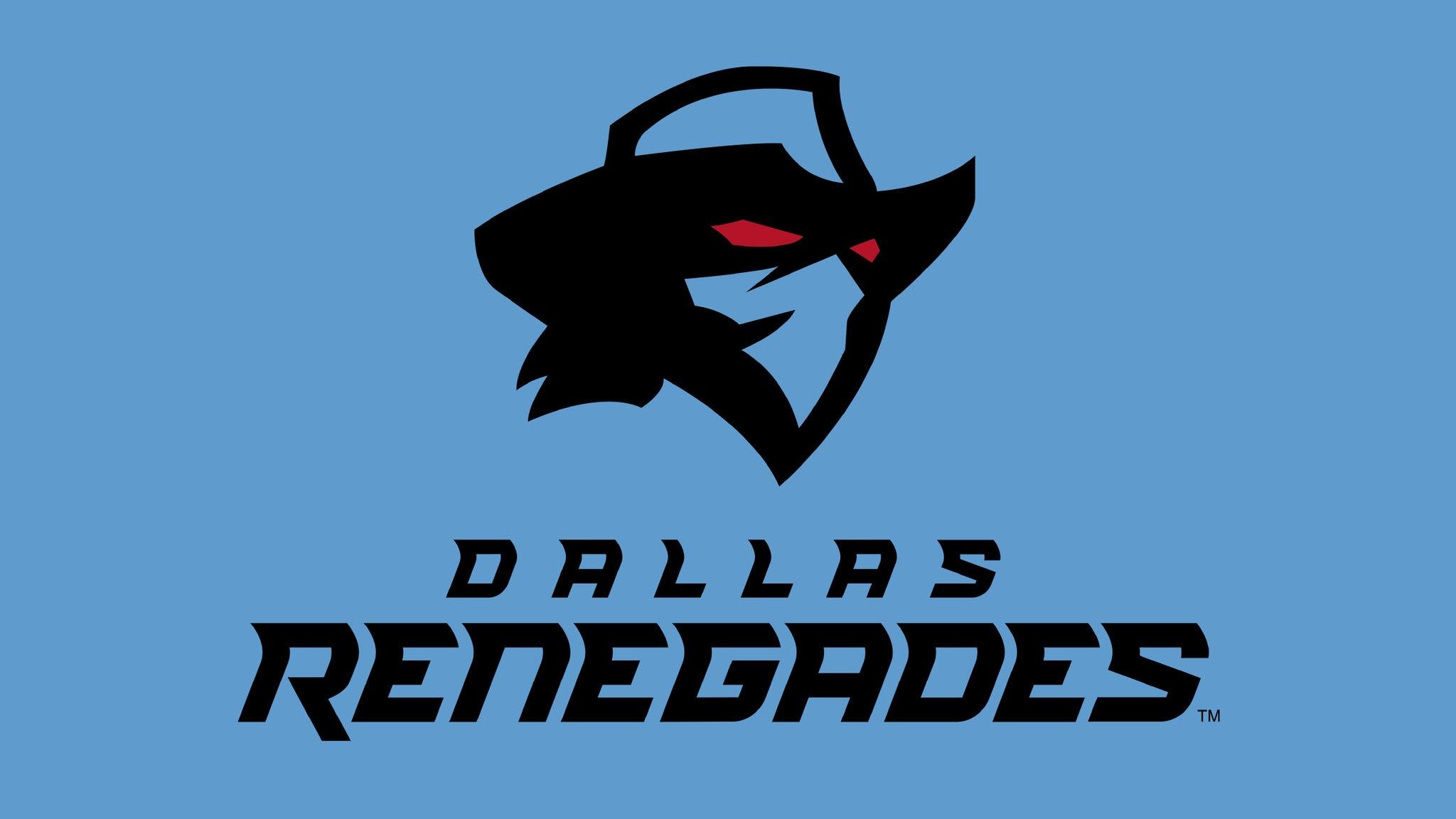 Dallas Renegades vs. Houston Roughnecks