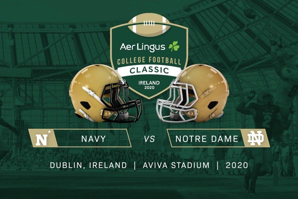 Aer Lingus College Football Classic - Navy v Notre Dame Seating Plan Aviva Stadium
