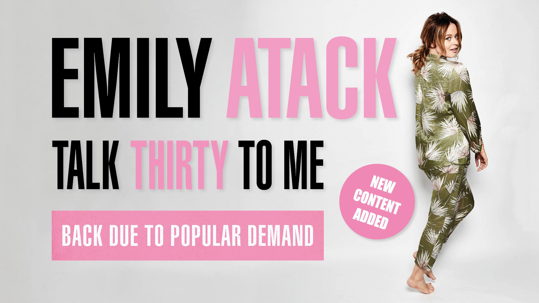 Emily Atack: Talk Thirty To Me Seating Plans