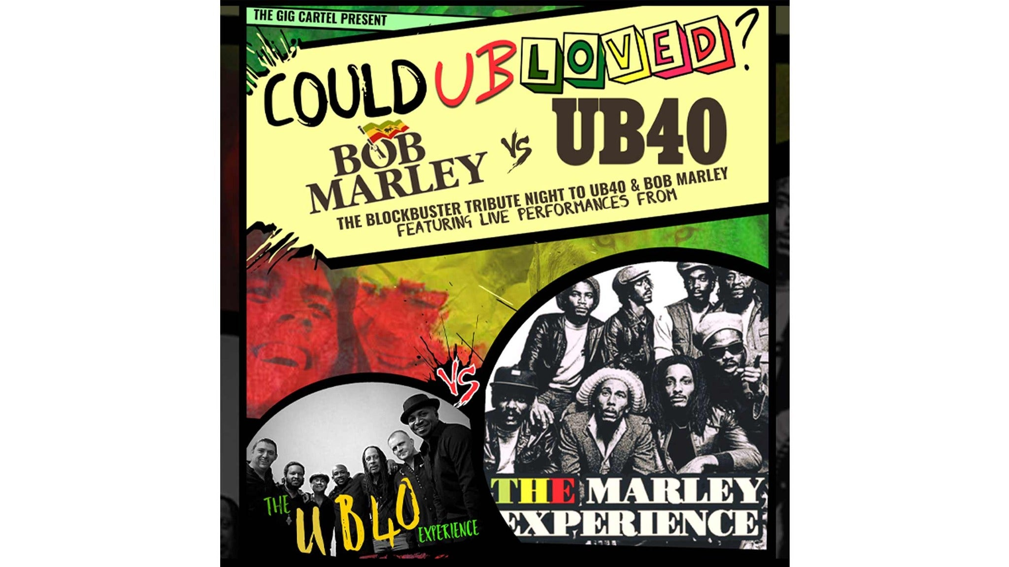 The Marley Experience & the Ub40 Experience tickets (Copyright © Ticketmaster)
