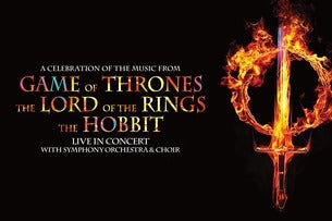 Music from Game of Thrones, Lord of the Rings and The Hobbit Seating Plans