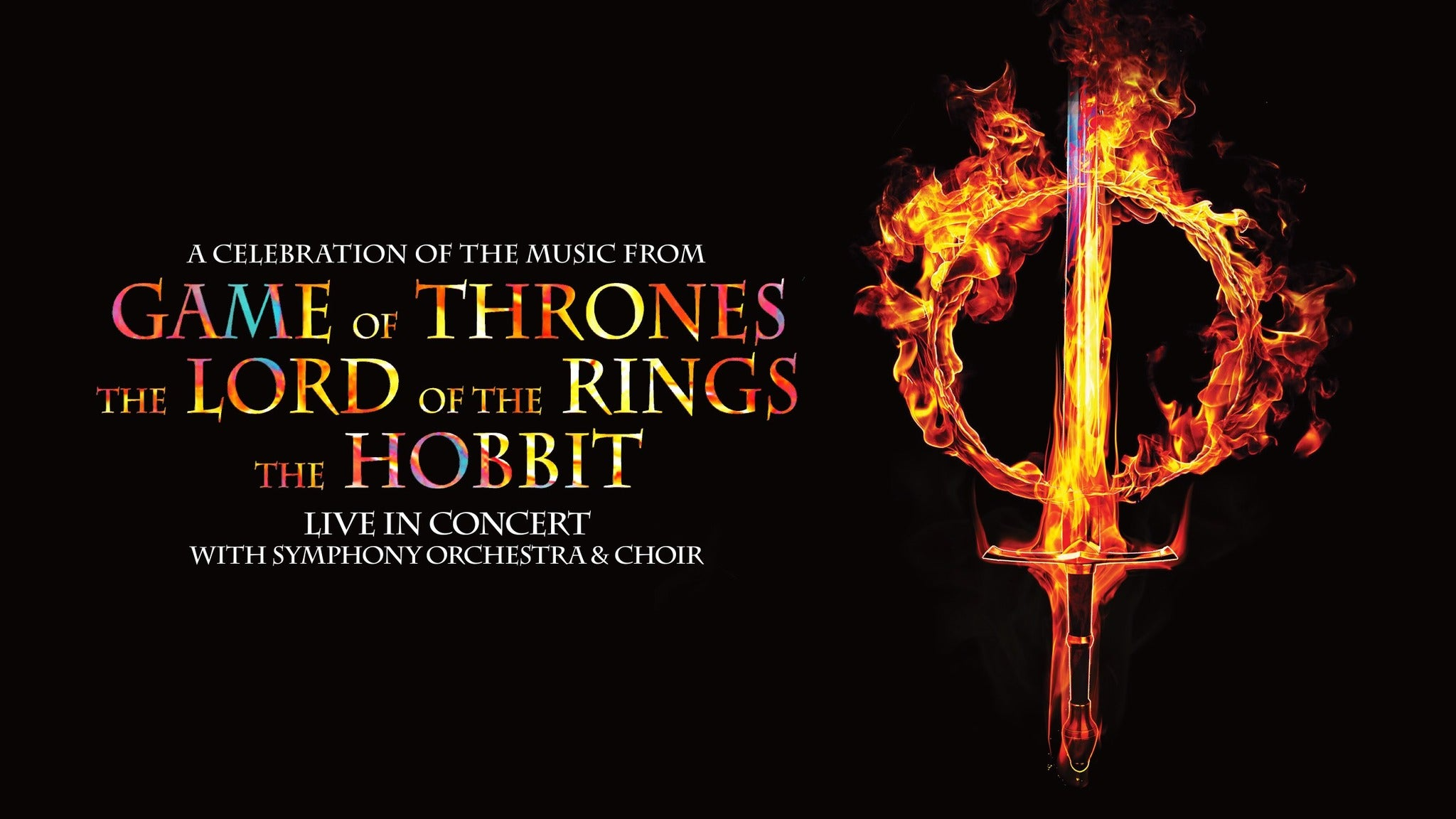Music From Game of Thrones, Lord of the Rings and the Hobbit Event Title Pic