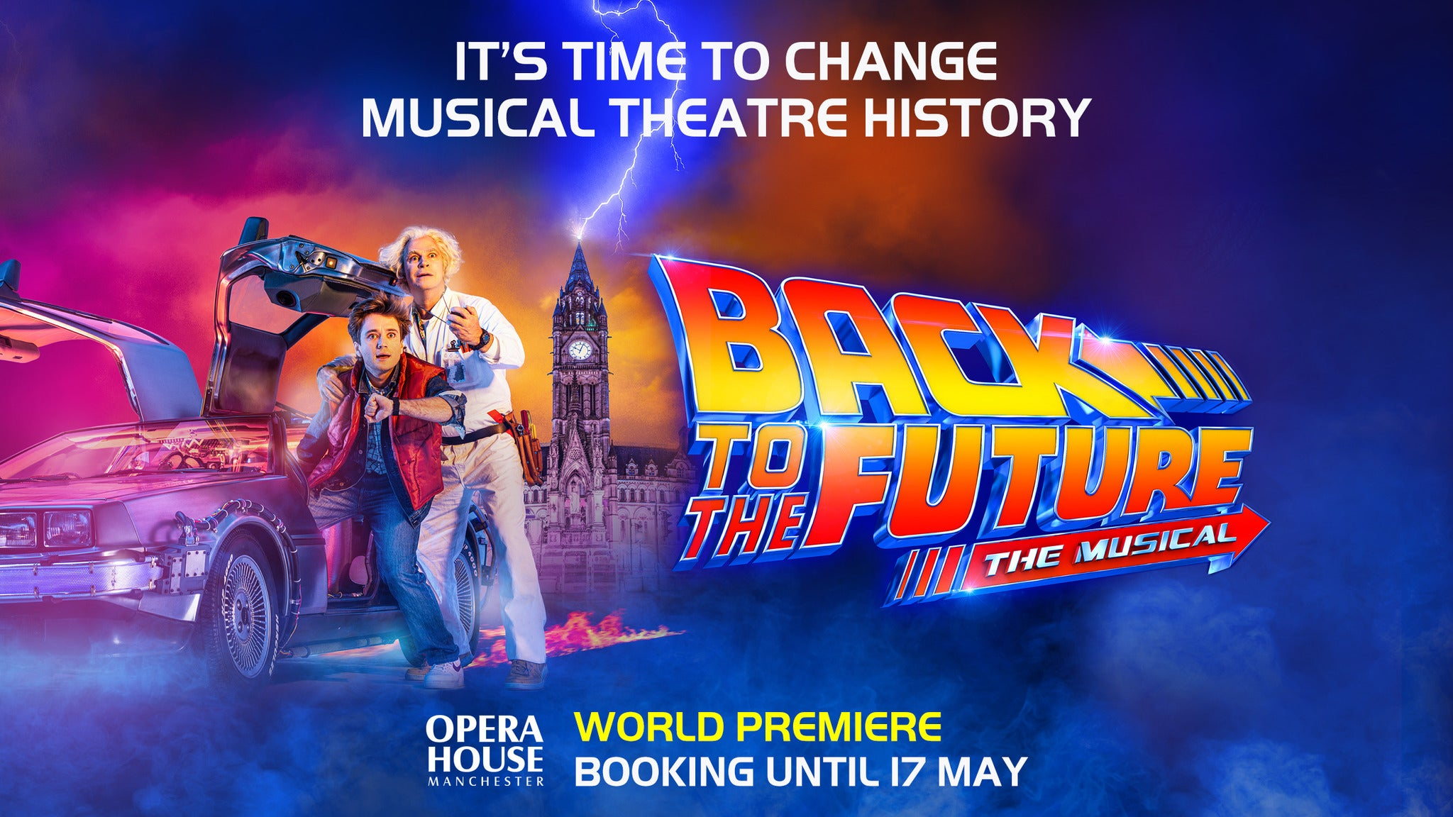 Back to the Future The Musical Event Title Pic