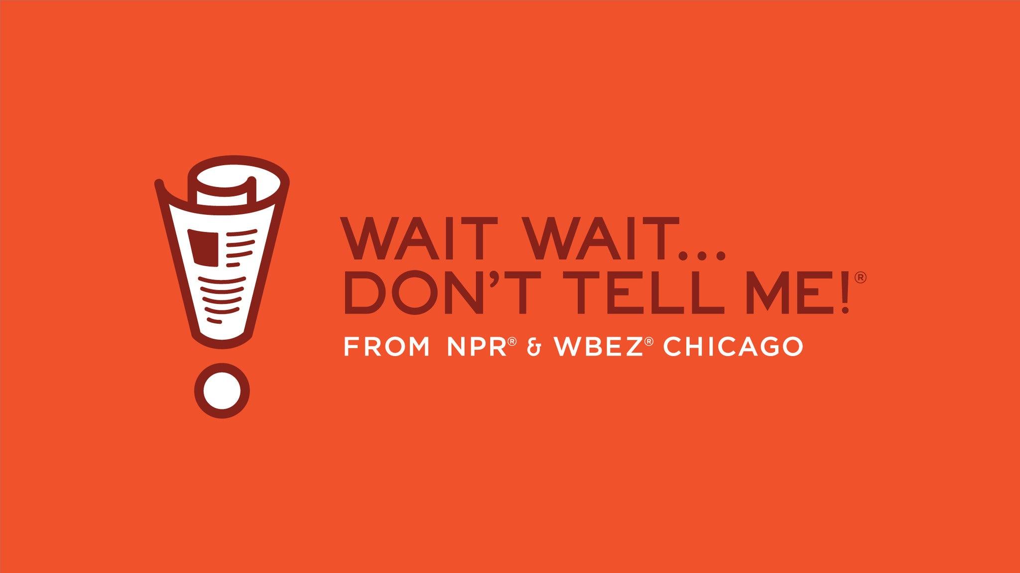 NPRs Wait Wait... Don't Tell Me! at Paramount Theatre-Austin
