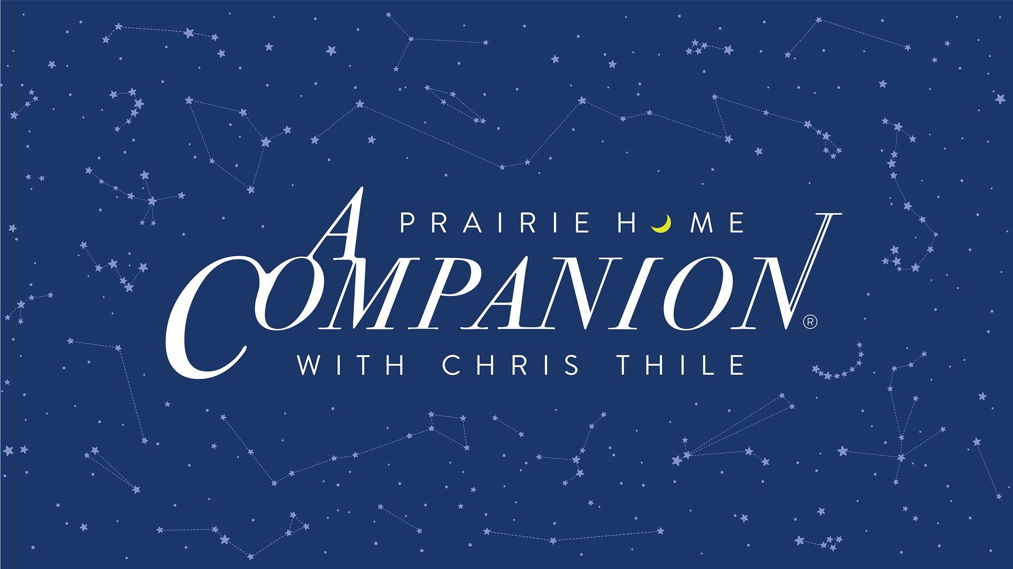 A Prairie Home Companion with Chris Thile