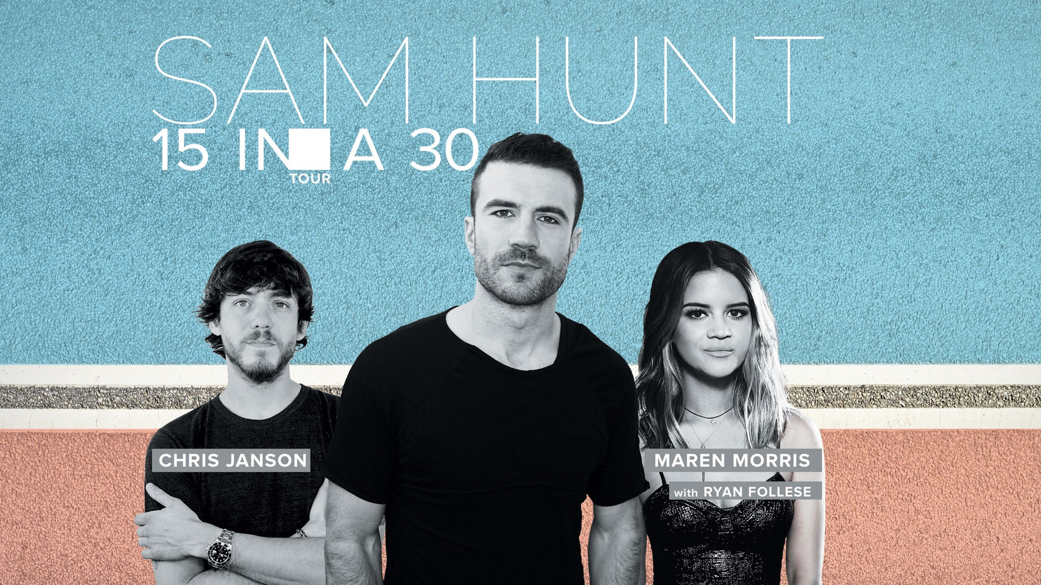 Sam Hunt 15 In A 30 Tour at Ak-Chin Pavilion