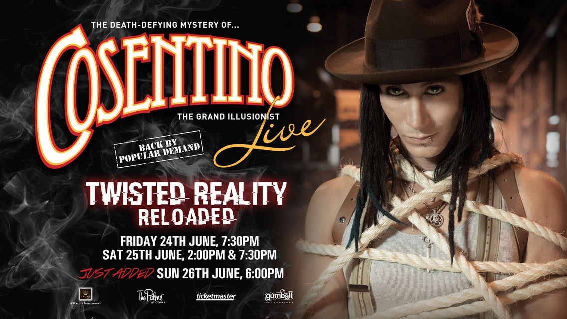 Cosentino Tickets | Event Dates & Schedule | Ticketmaster com