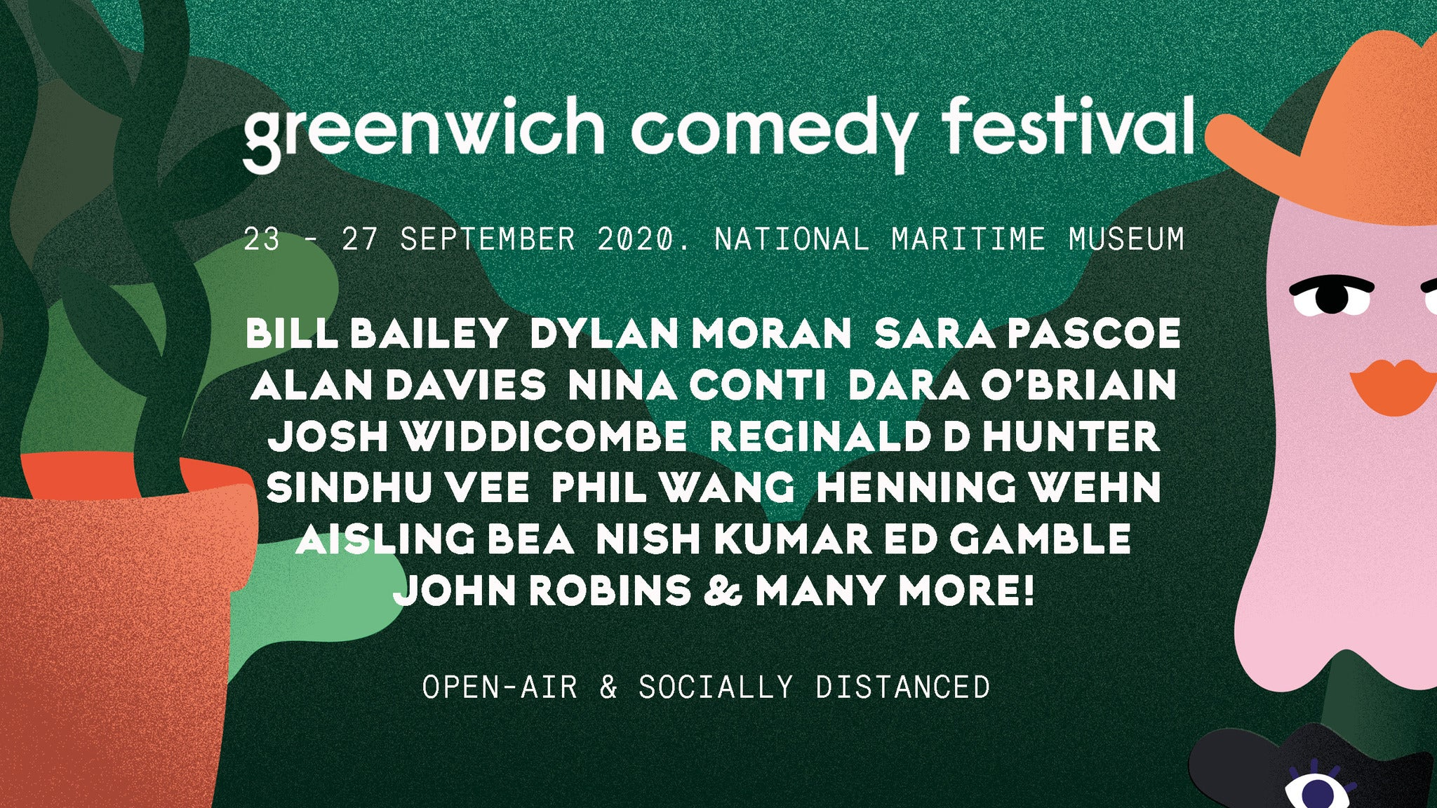 Greenwich Comedy Festival 2020 - Alan Davies + Special Guests tickets (Copyright © Ticketmaster)